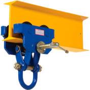 Trolley manuel Vestil d'installation rapideQIT-6 de 6000 lb de capacité
