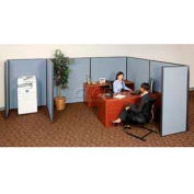 "Pre-Configured Partitioned Office Add-On, 8'W x 8'D x 72""H, Blue"