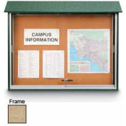 """United Visual Products Sliding-Door Outdoor Message Center - 52""""W x 40""""H - Sand"""