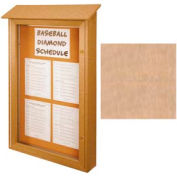 "United Visual Products Single-Door Outdoor Message Center - 26""W x 42""H - Sand"