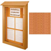"United Visual Products Single-Door Outdoor Message Center - 32""W x 48""H - Cedar"