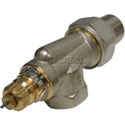 """Radiator or baseboard  valve body - 1"""" side mount, angle for 2-pipe steam"""