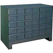 "Durham Steel Drawer Cabinet 024-95 - With 30 Drawers 34""W x 11-3/4""D x  26-7/8""H"