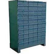 """Durham Steel Drawer Cabinet 025-95 - With 60 Drawers 34""""W x 11-3/4""""D x 48""""H"""