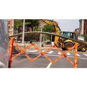 Barricade extensive portative multiporte, orange et blanc