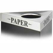 Couvercle triangulaire-papier