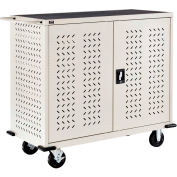 Mobile Storage & Charging Cart for 24 Laptop & Chromebook™ and Tablets, Putty, Unassembled