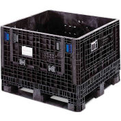 ORBIS BulkPak HDMP4845-34-22 Folding Bulk Shipping Container 48 x 45 x 34 1800 lb Capacity Black