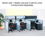 "Pre-Configured Call Center Starter, 48""W x 48""D, Blue"