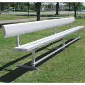 15' Aluminum Park Bench With Back, Portable and/or Surface Mount