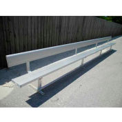 21' Aluminum Park Bench With Back, Portable and/or Surface Mount