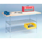 "72"" W x 30"" D fil stationnaire Workbench, Edge Square Top Shop"