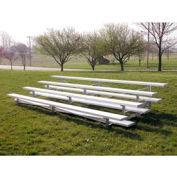 4 Row Low Rise Aluminum Bleacher, 21' Long, Single Footboard