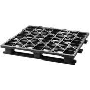 Automotive Rackable Plastic Pallet With 3 Bottom Skids 48x45, 2500 Lbs Cap