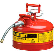 "Justrite® Type II Safety Can - 2-1/2 Gallon with 5/8"" Hose, 7225120"