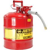 Bidon de sécuritéJustrite® 7250120 de type II de5 gallons avec tuyau de5/8 po