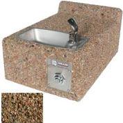 Fontaine d'eau potable extérieur mural béton résistant à la congélation ADA - Tan