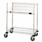 """Easy Access Slant Shelf Chrome Wire Cart 48""""L x 18""""W x 48""""H"""