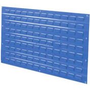 Global Industrial™ Louvered Wall Panel Without Bins 36x19 Blue - Pkg Qty 4