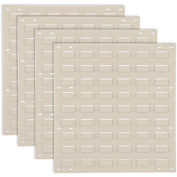 Louvered Wall Panel Without Bins 18x19 Tan - Pkg Qty 4