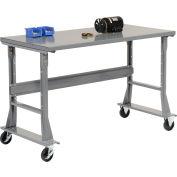 """48""""W x 36""""D Mobile Workbench - Steel - Gray"""