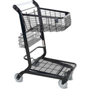 VersaCart® Flatbed Retail Shopping Cart 2 Cu Ft Metallic Gray 101-350-B-MTG