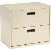 """Interion® 30"""" Lateral File Cabinet 2 Drawer Putty"""