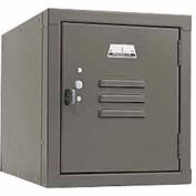 Penco 6157V028 Vanguard One High Box Locker 12x12x13-5/8 Unassembled Gray
