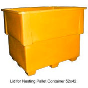 Bayhead IND-LID-YELLOW Lid For Nesting Pallet Container 52x42 Yellow