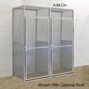 Hallowell BSL484890-R-1A-PL Bulk Tenant Storage Locker Single Tier Add-On 48x48x90 - Light Gray