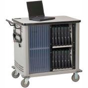 Datum LapTop™ chariot de rangement et de charge, capacité de 20 appareils, gris clair