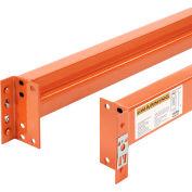 "Global Industrial™ Unslotted Steel Pallet Rack Beam, 120""L x 5-1/8""H, 5510 Lb. Cap., Set Of 2"