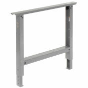 "C-Channel Open Adjustable Height Leg 29 to 35""H - for 36""D Workbench, 1 Leg - Gray"