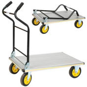 Wesco® Ergo Handle Folding Alum. Platform Truck 270382 35-1/2 x 24 660 Lb.