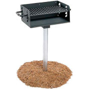 "Rotating Pedestal Grill With 3-1/2"" Dia. Post(280 Sq. In. Cooking Surface)"