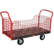 Rubbermaid® FG448500BLA Side Panel Platform Truck 48 x 24 1200 Lb. Capacity