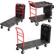 "Rubbermaid® FG449600BLA Convertible Platform Truck 6"" Rubber Casters"