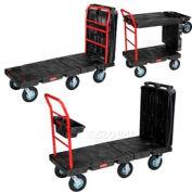 "Rubbermaid® FG449700BLA Convertible Platform Truck 8"" Pneumatic Casters"