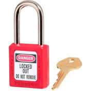 Master Lock® Safety 410 Series Zenex™ Thermoplastic Padlock, Red, 410RED