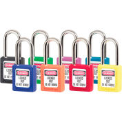 Master Lock® Safety 410 Series Zenex™ Thermoplastic Padlocks, Assorted Colors, 410AST