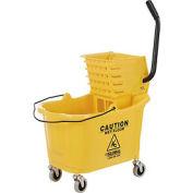 Global Industrial™ Mop Bucket and Wringer Combo - Side Press - Jaune