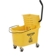 Global Industrial™ Mop Bucket And Wringer Combo 38 Qt., Side Press, Yellow