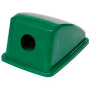 "Global Industrial™ Recycling Bottle & Can Lid - Green 13""W x 18""D x 9""H"