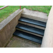 """Outdoor Recycled Rubber Stair Tread 54""""W Black"""