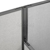"""Interion® High-Low Three Way Kit For Two 76"""" High Panel With Cable"""