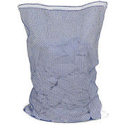 Mesh Bag W/ Nylon Zipper Closure, Blue, 30x40, Heavy Weight - Pkg Qty 12