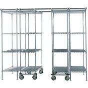 """Space-Trac 6 Unit Storage Shelving Chrome 48""""W x 18""""W x 74""""H - 12 ft."""