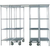 "Space-Trac 4 Unit Storage Shelving Chrome 48""W x 24""D x 86""H - 12 ft."