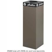 Public Square® acier recyclage conteneur - 42 gallons Brown