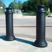 Bitte couvre-tuyau décoratrice de style pion–10 po à 11 po, noir